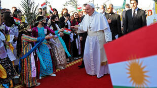 Pope arrives in Erbil