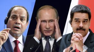 Abdel Fattah al-Sissi, Vladimir Poutine et Nicolás Maduro ont tous trois une échéance présidentielle en 2018.