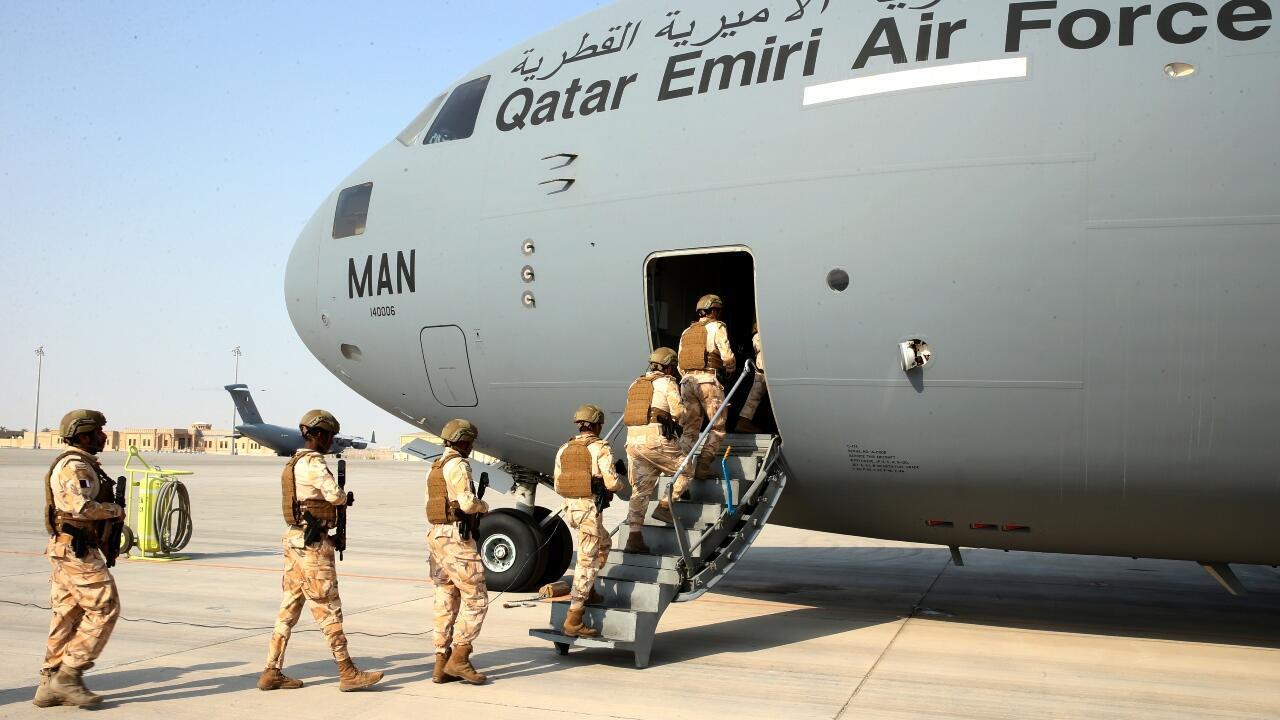 Qatari plane in Afghanistan