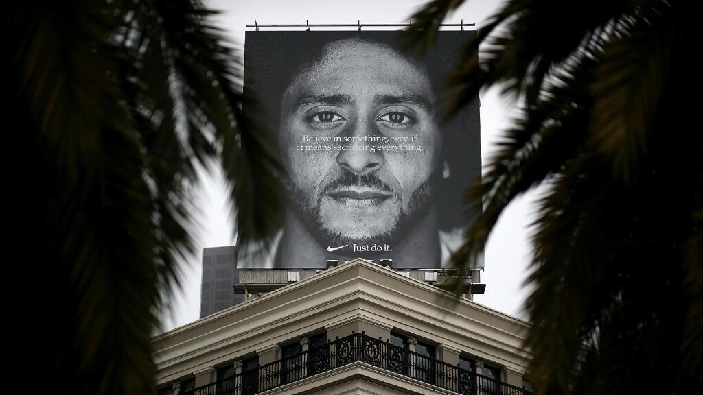 La publicité de Nike avec le visage de Colin Kaepernick.