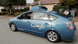 La voiture autonome de Google lors de l'un de ses tests