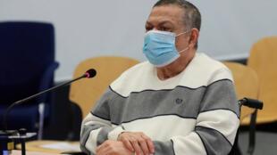 El excoronel salvadoreño y viceministro de Defensa Inocente Montano comparece en un juicio por su presunta participación en el asesinato de seis sacerdotes jesuitas españoles y dos colaboradores, el 8 de junio de 2020 en Madrid