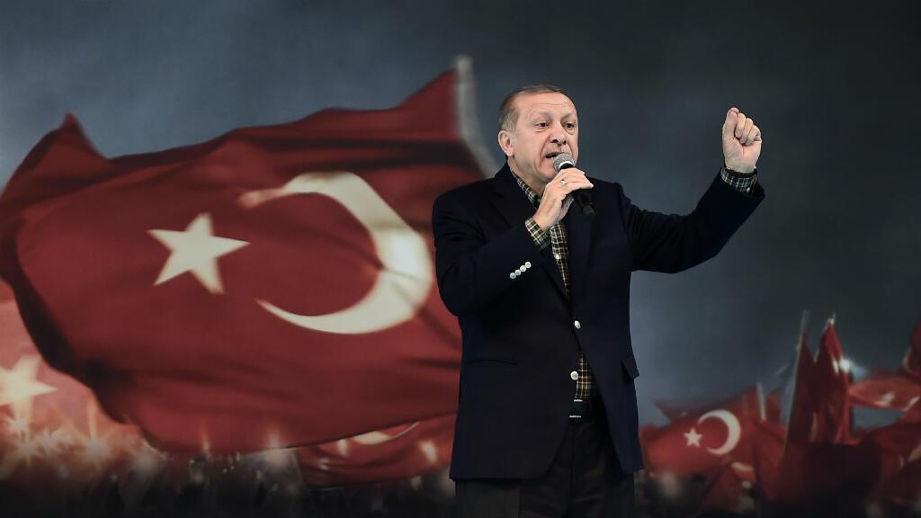 Recep Tayyip Erdogan lors de son discours à Istanbul, le 5 mars 2017.