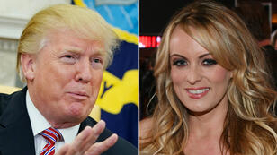 الممثلة الإباحية المعروفة بستورمي دانيالز - الرئيس الأمريكي دونالد ترامب