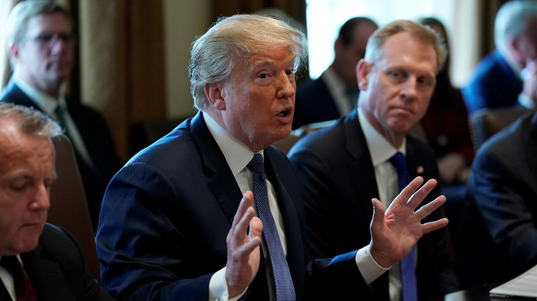 El presidente de Estados Unidos, Donald Trump, celebró una reunión de su gabinete en la Casa Blanca, en la ciudad de Washington, EE. UU., el 9 de abril de 2018.