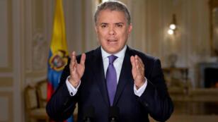 El presidente colombiano Iván Duque anuncia las objeciones a la JEP en una alocución pública