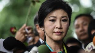 Yingluck Shianawatra à son arrivée à la Cour constitutionnelle à Bangkok, en août 2016.