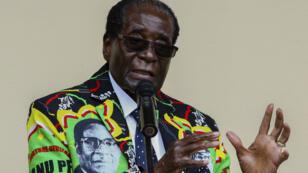 Robert Mugabe, lors de la conférence annuelle du parti le 17 décembre 2017, à Masvingo.