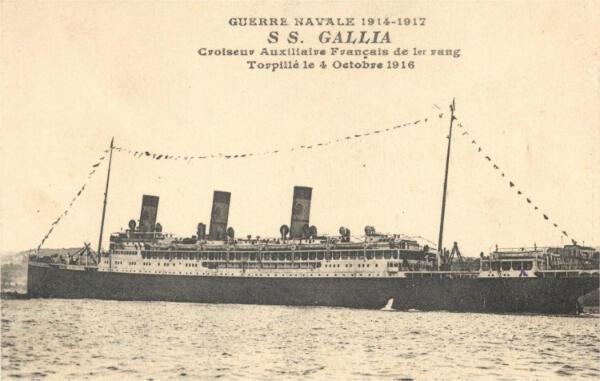 Le Gallia était un  paquebot transatlantique français de la Compagnie de navigation Sud-Atlantique lancé en 1913