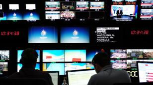 Une newsroom de la chaîne qatarie Al-Jazira en 2013.