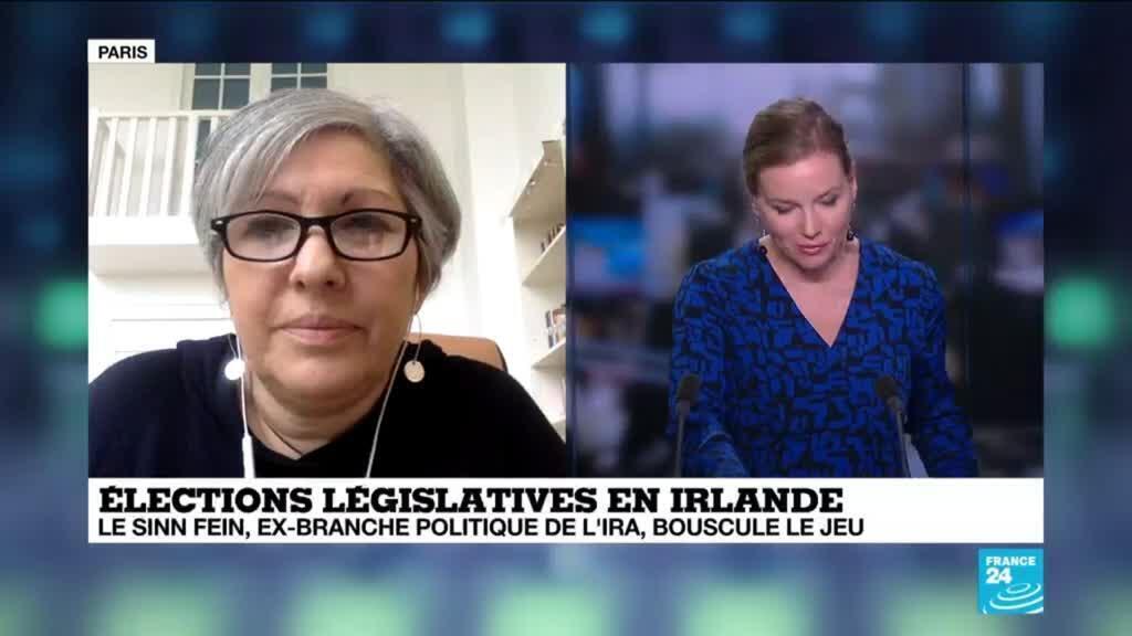 """2020-02-09 15:05 Nathalie Sebbane sur France 24: """"Les irlandais se sont prononcés en faveur d'un changement radical"""""""