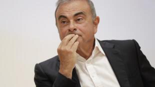 Carlos Ghosn à une conférence de presse à Jounieh au Liban le 29 septembre 2020