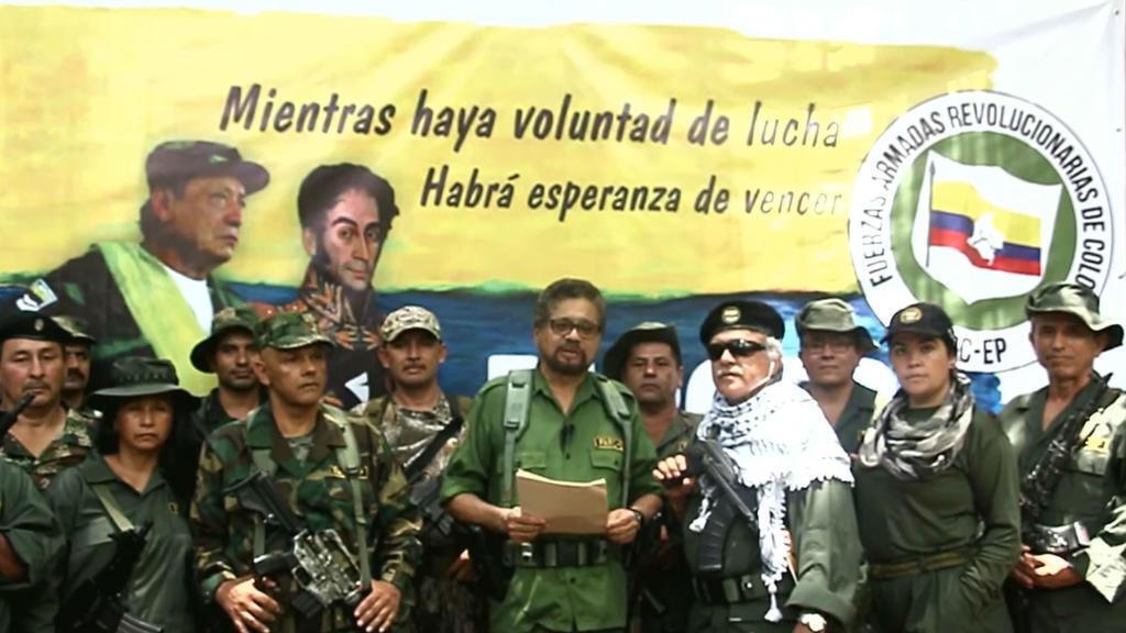 Captura de pantalla del video en el que 'Iván Márquez', líder de las FARC, anuncia que retoma las armas