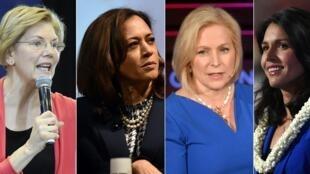 Elizabeth Warren, Kamala Harris, Kirsten Gillibrand, Tulsi Gabbard