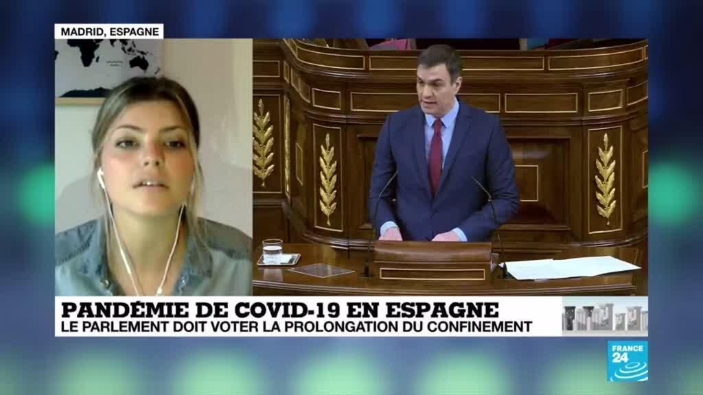 2020-04-09 09:12 Coronavirus en Espagne : Le Parlement doit voter la prolongation de l'état d'urgence