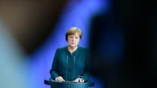 المستشارة الألمانية أنغيلا ميركل في برلين في 19 نيسان/أبريل 2016