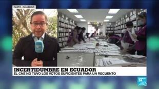 2021-02-17 13:34 Informe desde Quito: el CNE no logró la aprobación suficiente para el recuento de votos