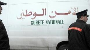 سيارة تابعة لقوات الأمن المغربية