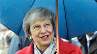 Theresa May au Pays de Galles, le 27 novembre 2018.