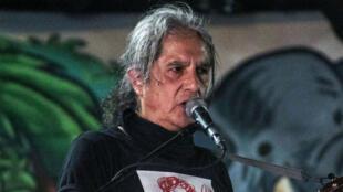 Armando Vegal Gil, fundador de la banda mexicana Botellita de Jerez, en marzo de 2018.