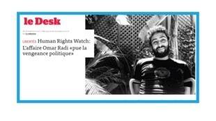 Le journaliste marocain Omar Radi