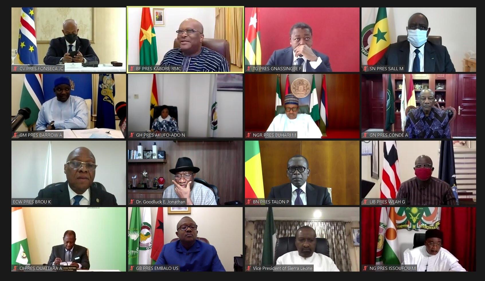 La Cédéao s'est réunie en sommet sur le Mali, le 28 août 2020.