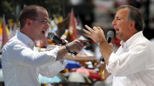 Ricardo Anaya y José Antonio Meade, los principales competidores de Andrés Manuel López Obrador.