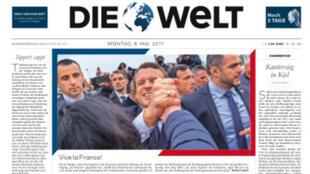 """""""Vive la France!"""", titre Die Welt le 8 mai 2017."""
