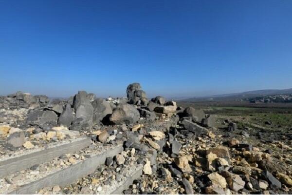 معبد أثري ضحية جديدة للمعارك في منطقة عفرين في شمال سوريا