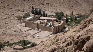 Le monastère Sainte-Catherine,  dans le Sinaï, en avril 2017.