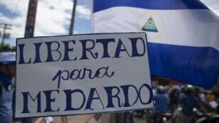 Miles de nicaragüenses claman por liberación inmediata de presos políticos, Managua, Nicaragua, el 15 de agosto de 2018.