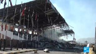 L'un des sites bombardés le 5 novembre 2017 à Sanaa, au Yémen.