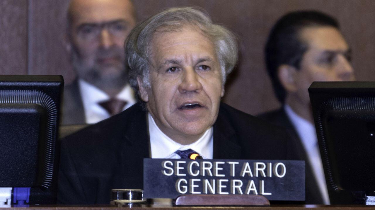El secretario general de la OEA, Luis Almagro, durante la sesión extraordinaria del organismo en Washington, Estados Unidos, el 10 de enero de 2019.