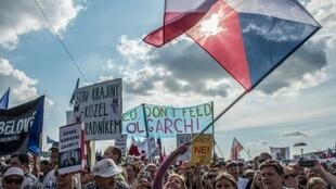 The Czech Republic on Sunday saw its largest protest since the collapse of communism in 1989
