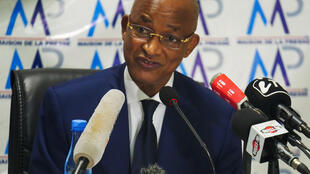 Guinea's main opposition leader Cellou Dalein Diallo, nominated by the UFDG party to challenge President Alpha Conde in the October 18 presidential election, holds a news conference in Dakar, Senegal September 24, 2020.
