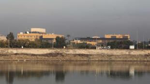 السفارة الاميركية في بغداد في 3 ك2/يناير 2020.