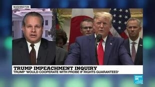 2019-10-09 22:39 Trump Impeachment Inquiry: Joe Biden Calls for Trump to Be Impeached for First Time