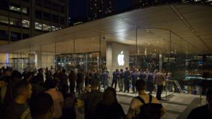 Ouverture de l'Apple Store Michigan Avenue à Chicago.