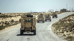 دورية لقوات الأمن المصرية في العريش في 26 تموز/يوليو 2018