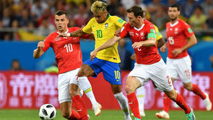 Neymar n'a pas réussi à se dépêtrer de la défense suisse.