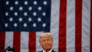 Le président américain Donald Trump lors de sa conférence de presse consacrée au vaccin contre le Covid-19, à Washington, le 13 novembre 2020.