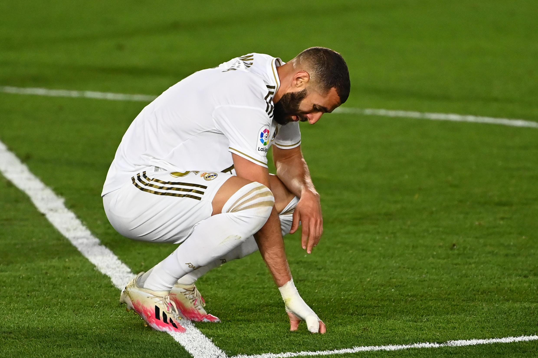 L'attaquant du Real Madrid Karim Benzema lors d'un match contre Getafe, le 2 juillet 2020.