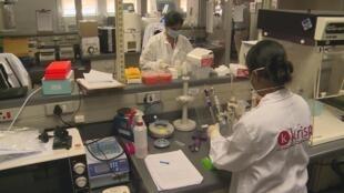 Le très protégé laboratoire KRISP de Durban en Afrique du Sud.