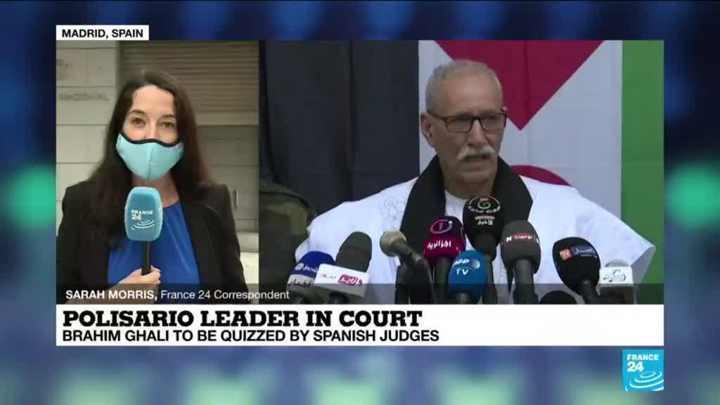 2021-06-01 10:11 Polisario leader Brahim Ghali in Spanish Court