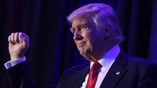 Première apparition de Donald Trump après son élection comme 45e président des États-Unis.