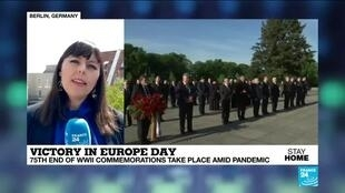 2020-05-08 13:01 Germany commemorates Victory in Europe Day with scaled-down events amid coronavirus pandemic
