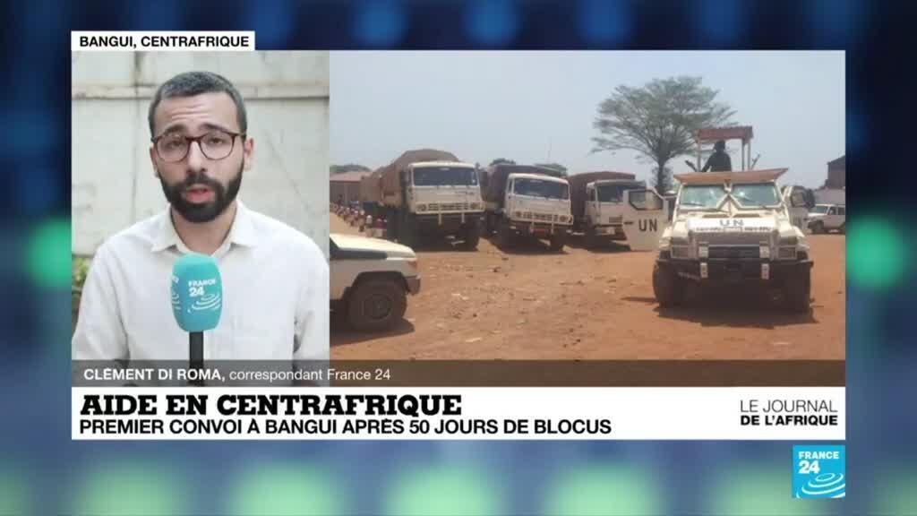 2021-02-08 22:49 Centrafrique : premier convoi d'aide à Bangui après 50 jours de blocus rebelle