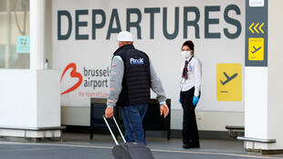 A passenger arrives at the Zaventem International Airport as Belgium eases restrictions aimed at containing the spread of the novel coronavirus, near Brussels, Belgium, on June 15, 2020.