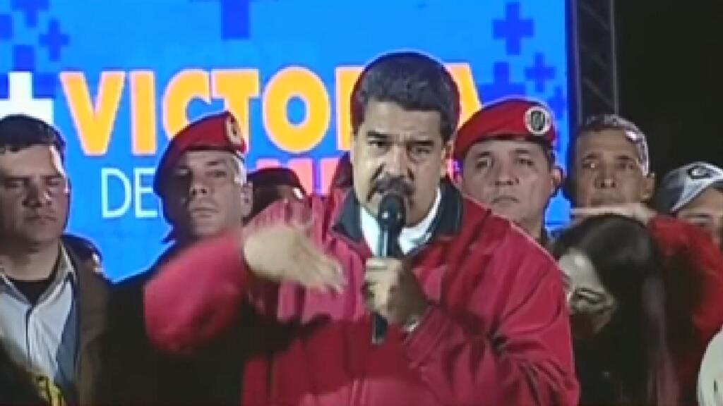 Nicolás Maduro en la noche del domingo 30 de julio mientras se refería a los resultados de la Constituyente.