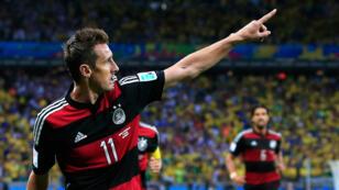 Miroslav Klose durant la Coupe du monde 2014 au Brésil.